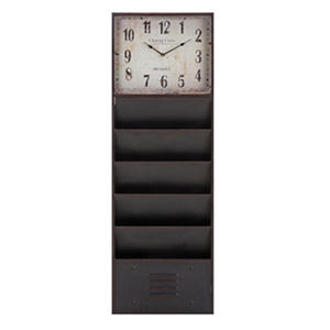 Benton Wall Clock with 5 Trays