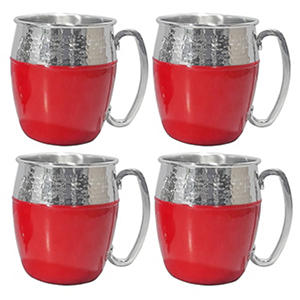Member's Mark Hammered Mule Mugs, 4 Pack-Red