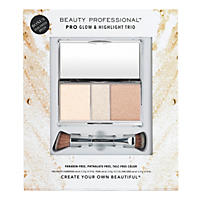 Beauty Professional Pro Glow & Highlight Trio with Dual Ended Brush