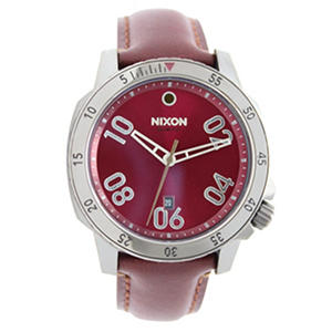 Ranger Leather Strap Watch by Nixon Red