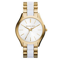 Michael Kors Slim Runway Women's Watch, White