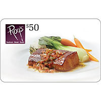 Roy's Restaurant $100 Value Gift Cards - 2 x $50