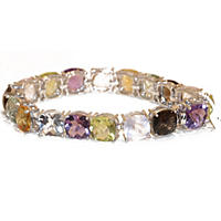 Trt Multi Gem Bracelet 50CTTW - Cushion -925
