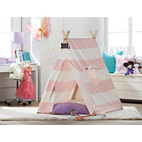 Kids' Indoor Tent Pink Stripe