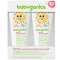 Babyganics SPF 50+ Sunscreen Lotion (8 fl. oz., 2 pk.)