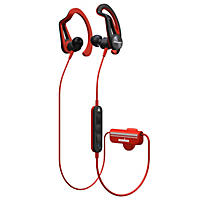 Pioneer IRONMAN Santa Cruz Wireless Sports Earphones, Red