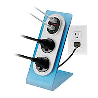 (Free Shipping)Sharper Image Visual Charge Dual USB Charger/Outlet - 2pk