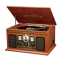 Victrola 6-in-1 Nostalgic Bluetooth Record Player with 3-speed Turntable - Mahogany