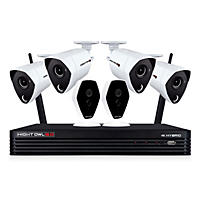 Night Owl 6-Channel 4K Hybrid Security System with 1TB Hard Drive, 4-4K Wired & 2-1080p Wireless Cameras