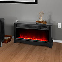 "Lifesmart Zone Series 36"" Low Profile Fireplace with Flame Effect and Infrared Heat System"