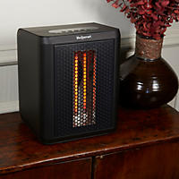 Black - Lifesmart 1200 Watt 3 Element Infrared Portable Heater