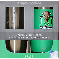 Simple Modern Licensed Vacuum Insulated 22 oz Stainless Steel Bottles (2 pk), Marshall