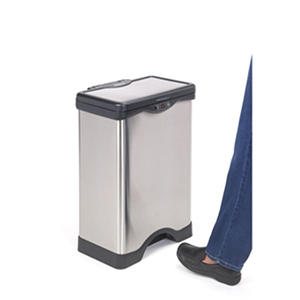 Simply Kleen Foot Sensor Bin, Stainless Steel