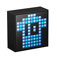 Divoom Timebox Smart Portable Bluetooth LED App- Controlled Pixel Art Speaker