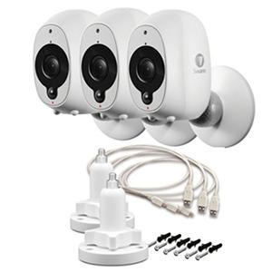 Swann Smart Security Wire-Free 1080P Battery Camera 3 Pack With 2 Stands