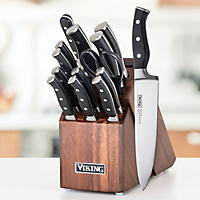 Viking 15 Piece Knife Set With Wood Block