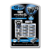 Schick Hydro5 Sense Hydrate Razor (1 Handle + 14 Cartridges)