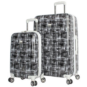 Nicole Miller 2pc Hardside Set Blk