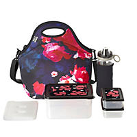 Built NY 10-Piece Neoprene Insulated Lunch Bag Set - Midnight Roses