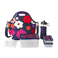 Built NY 10-Piece Neoprene Insulated Lunch Bag Set - Lush Flowers
