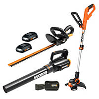 WORX WG932 20V String Trimmer, Blower and Hedge Trimmer combo