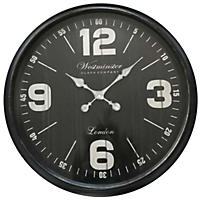 "Oversized 30"" Wall Clock, Black"