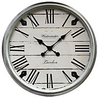 "Oversized 30"" Wall Clock (White)"