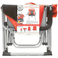 Portable Director's Chair, Red/Black
