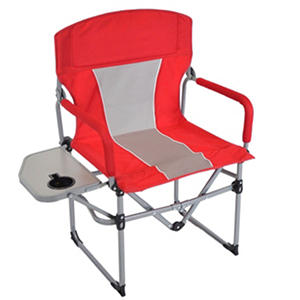 Member's Mark Portable Director's Chair, Red/Grey