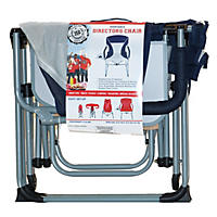 (Free Shipping) Portable Director's Chair, Navy/Grey