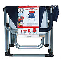 Portable Director's Chair, Blue/Red