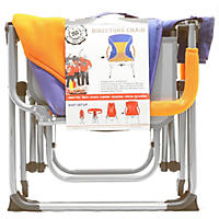 Portable Director's Chair, Bright Blue/Orange