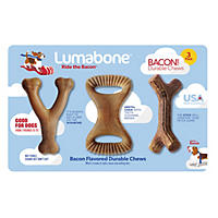 Lumabone Durable Chews, Ride the Bacon (3 pk.)