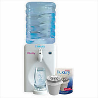 Little Luxury Vitality Mini Water Cooler with Filter, White