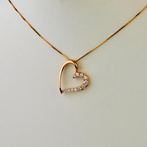 025 ct tw heart shaped diamond pendant in 14k yellow gold tw heart shaped diamond pendant in 14k yellow gold mozeypictures Images