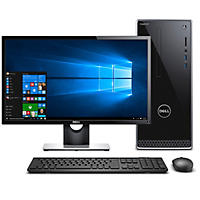 "Dell 3000 Series 24"" Intel Core i5 Desktop Bundle, Includes: 24"" Monitor, Intel Core i5-8400 Processor, 8GB Memory, 2TB Hard Drive, Optical Drive, Wired Keyboard and Mouse, 2 Year Warranty, Windows 10 Home"