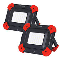 Honeywell 1000L Rechargeable Work Light Set with Multiple Light Modes (2-Pack)