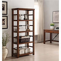 (Free Shipping) Patterson Oak Finish Office Furniture Collection, Bookcase