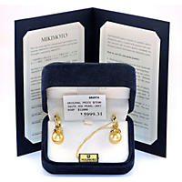 10MM South Seas Pearl Earrings in 18K Yellow Gold