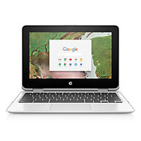 "HP HD 11.6"" Chrome Notebook, Intel Celeron N3350 Processor, 4GB Memory, 32GB Hard Drive, HD Webcam, Chrome OS"