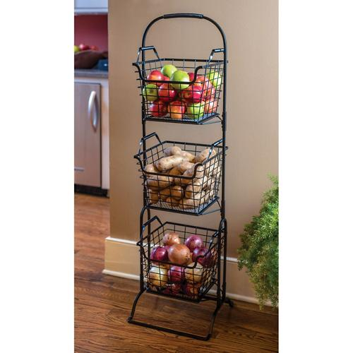 Farmer S Square 3 Tier Basket Floor Stand