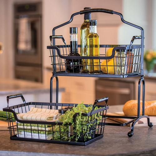 Two-Tier Wire Basket Stand, Square | SamsClub.com Auctions