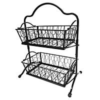 Two Tier Chicken Wire Baskets