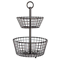 Two-Tier Metal Storage Basket