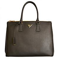 Galleria Leather Tote Handbag by Prada