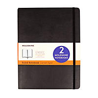 Moleskine 2 Pack Classic Black Notebooks