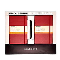 Moleskine 2 Classic Notebooks and Click Pen, Red