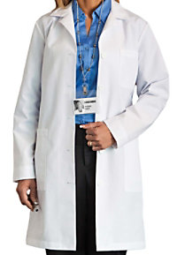 Meta 37 inch ladies long lab coat.