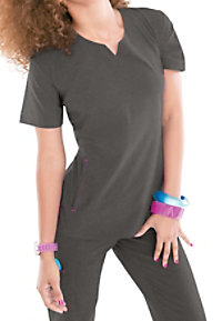 Smitten Magic Knock Out Scoop Notch-neck Scrub Tops