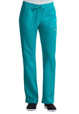 Careisma By Sofia Vergara Charming Elastic Waistband Scrub Pants With Certainty - Aqua Rush - PXS